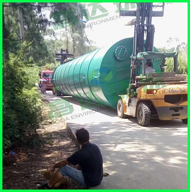 100T污水处理设备运输途中