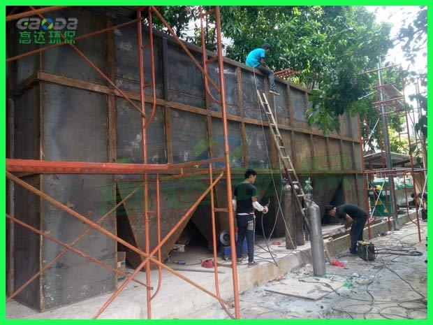300t/h研磨废水处理设备现在组装2